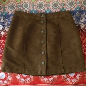 Old Navy Brown Suede Skirt Size 2